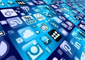 Social media mobile phone app icons