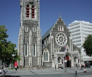 Christ Church Cathedral in Christchurch, New Zealand